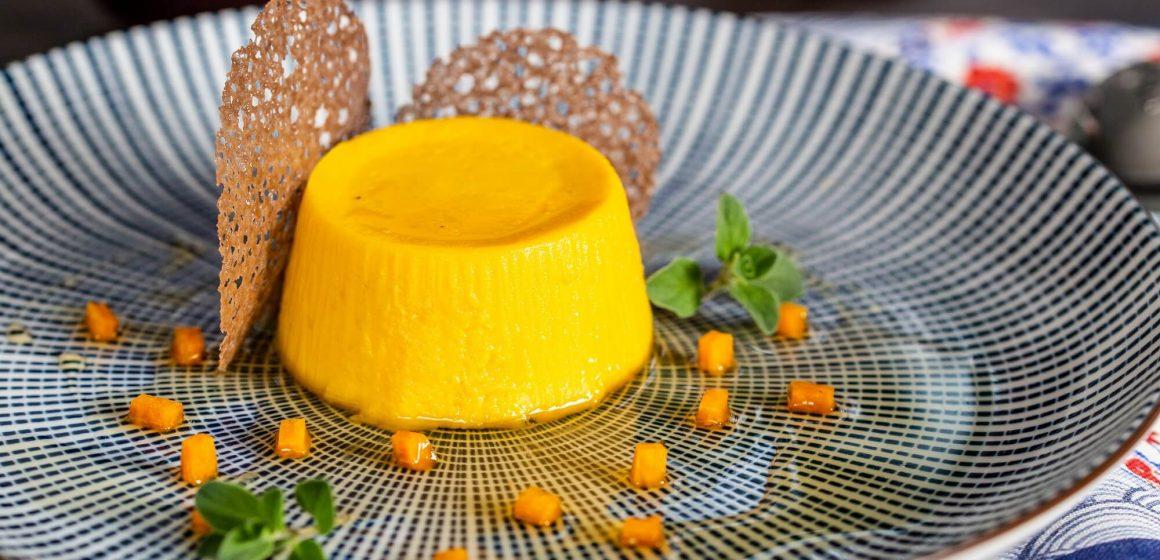 antipasto budino di zucca dello chef Bruno Barbieri