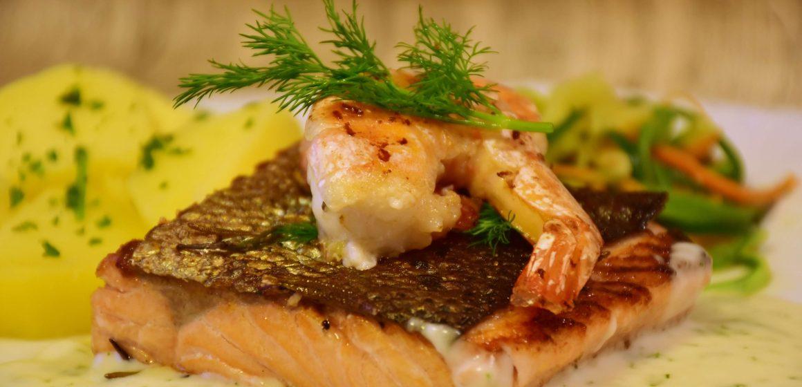 FIletto di salmone con verdure