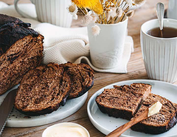 Pane con scaglie di cioccolato