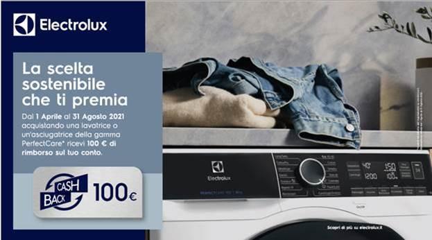 Electrolux: con Perfectcare Cash Back di 100 €