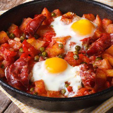 Le huevos a la flamenca (le uova di Flamenco)
