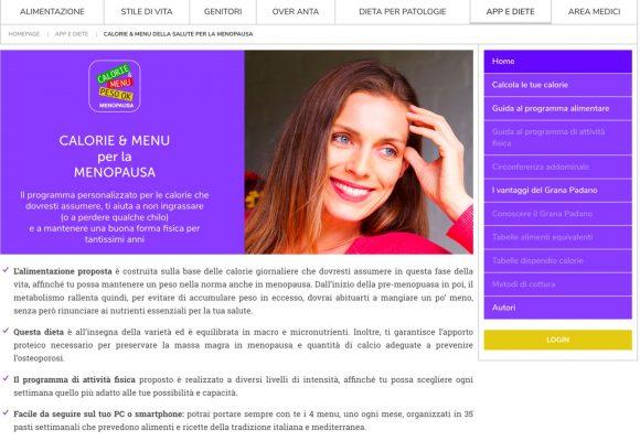 Menopausa: la dieta si calcola online (con tanti consigli)