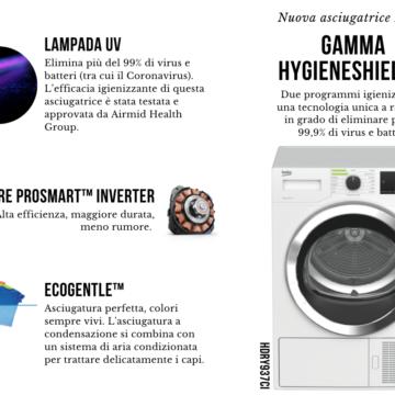 Gamma HygieneShield™ di Beko: la nuova asciugatrice HDRY937C